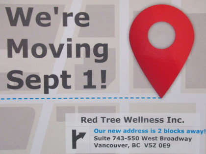 We are moving! The clinic will be closed from August 27 to 31 for our move!